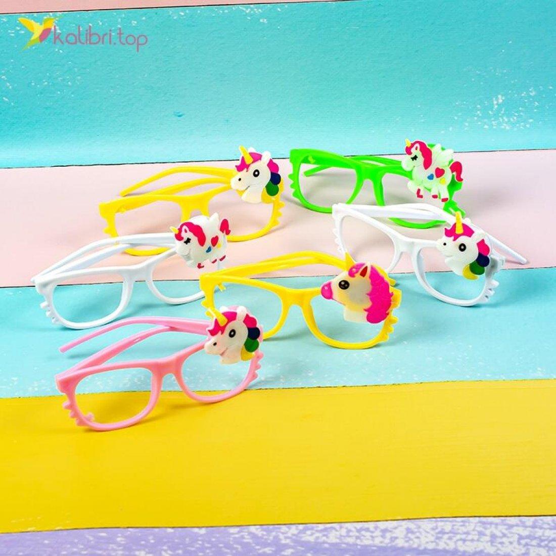 Детские светящиеся очки Единороги оптом фото 02