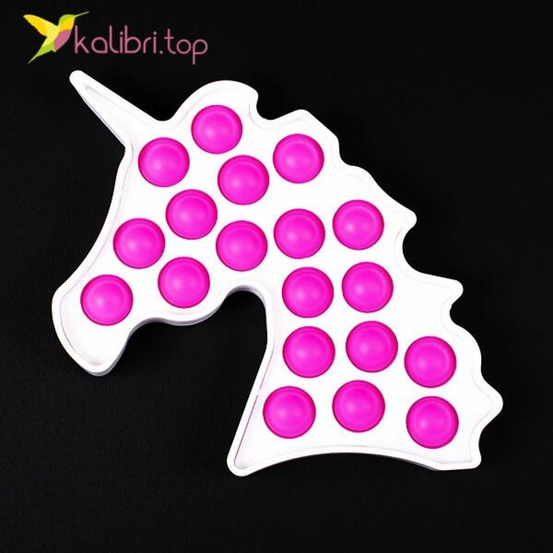 Антистресс Поп ит (pop-it) Единорог пластик розовый оптом фото 01