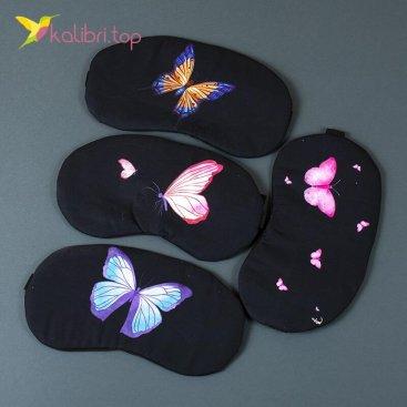 Маска для сна Бабочки оптом фото 01