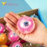 Детские мячики Глаза 5,5 см оптом фото 02