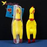 Резиновая кричащая курица 17 см оптом фото 01