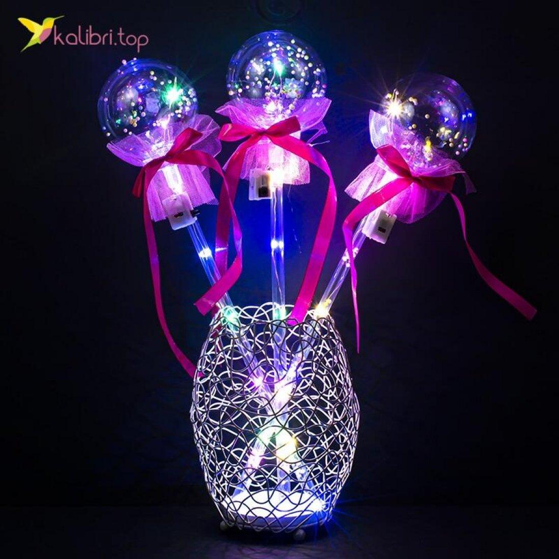 Купить светящиеся палочки Кругляшки малиновый оптом фото 02