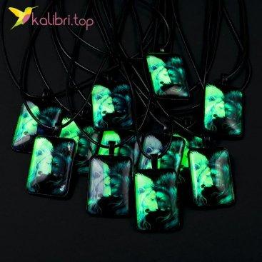 Светящиеся флуоресцентные кулоны Львы оптом фото 01